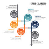 Circle Color Loop Infographic Royalty Free Stock Image