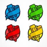 Circle color pencil logo Stock Photo