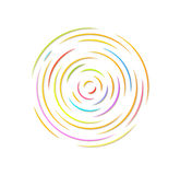 Circle with color rounded lines Royalty Free Stock Photos