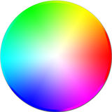 Circle colored. Chromatic circle for painters ans photographers Stock Photo