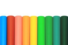 Circle colored paper Stock Images