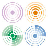 Circle colored signal icons Stock Images