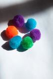 Circle of colored soft balls. Aligned with shadow Stock Image