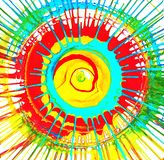 Circle - colored splashes. Summer sun rays. stock illustration