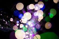 Circle colorful bokeh light celebrate at night, defocus light abstract background. Royalty Free Stock Photo
