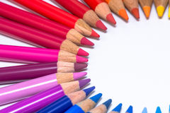 Circle with Colorful Crayons Stock Image