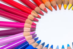 Circle with Colorful Crayons Royalty Free Stock Photo