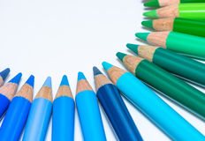 Circle with Colorful Crayons Stock Photo