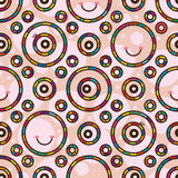 Circle colorful cute seamless pattern Stock Image
