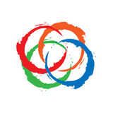 Circle colorful frame icon stock photo