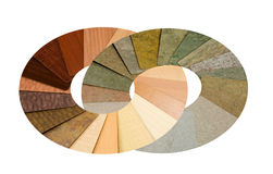 Circle of colorful laminated samples Stock Image