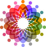 Circle of colorful people pictogram Royalty Free Stock Photos