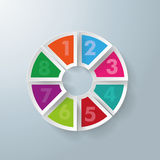 8 Circle Colorful Pieces Stock Photo