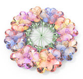 Circle of colorful precious flowers Stock Photography