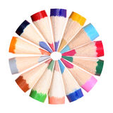 Circle of coloring pencils Stock Photo