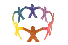 Circle of colourful people Royalty Free Stock Photography