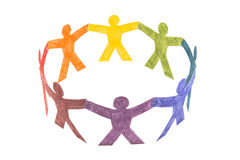 Circle of colourful people Royalty Free Stock Image