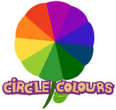 Circle colours. Illustration of isolated letter of circle colours  on white background Royalty Free Stock Photography