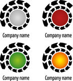 Circle company logo Stock Photos