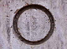 Circle on Concrete Wall Royalty Free Stock Images