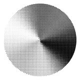 Circle with conical halftone gradient effect. Vector graphic for design Royalty Free Stock Photography