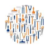 Circle of construction tools, illustration. Circle of construction and repair tools, illustration vector illustration