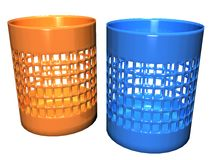 Circle Container Square Holes_Raster Stock Images