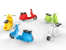 Circle of cool mopeds Royalty Free Stock Photo
