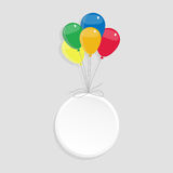 Circle with copy space and balloons Royalty Free Stock Image