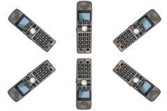 Circle of cordless phones Royalty Free Stock Image