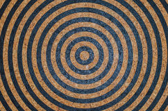Circle cork board paint target as background. Image Stock Images