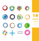 Circle corporate logo icon set Stock Image