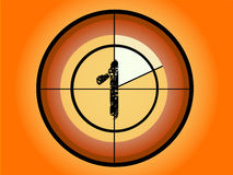 Circle Countdown - At 1. Orange and Red Circle Countdown at No 1 - (Vector Format Stock Image