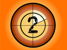 Circle Countdown - At 2. Orange and Red Circle Countdown at No 2 - (Vector Format Royalty Free Stock Image