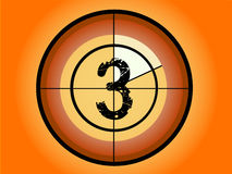 Circle Countdown - At 3. Orange and Red Circle Countdown at No 3 - (Vector Format Stock Photo