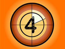 Circle Countdown - At 4. Orange and Red Circle Countdown at No 4 - (Vector Format Stock Photos