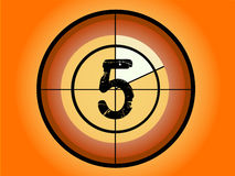 Circle Countdown - At 5. Orange and Red Circle Countdown at No 5 - (Vector Format Royalty Free Stock Photos