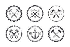 Circle Crafts Emblems Royalty Free Stock Photos