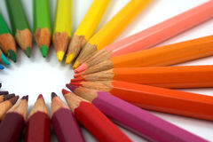Circle of Crayons Royalty Free Stock Images