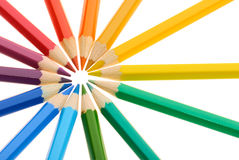 Circle of Crayons Stock Photography