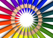 Circle of crayons Stock Photography