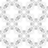 Circle cross gray abstract seamless pattern Stock Images