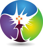 Circle cross logo Stock Photo