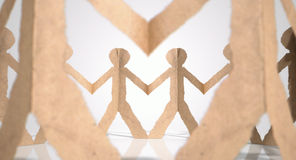 Circle Of Cutout Paper Cardboard Men Royalty Free Stock Photo