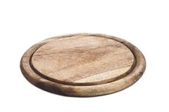 Circle cutting board isolated on white Stock Image
