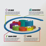 Circle Cylinder overlap style Vector illustration of business infographics. Design template: Circle Cylinder overlap style Vector illustration of business Royalty Free Stock Photography