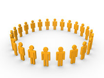 Circle of 3d people. Circle of simple 3d characters Royalty Free Stock Photography
