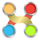 Circle 3d relationship with business Royalty Free Stock Images