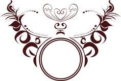 Circle decorative flourishes ornament Royalty Free Stock Image