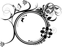 Circle decorative flourishes ornament Royalty Free Stock Photos
